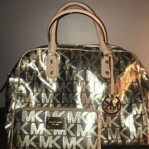 Michael Kors Gold Purse and Wallet